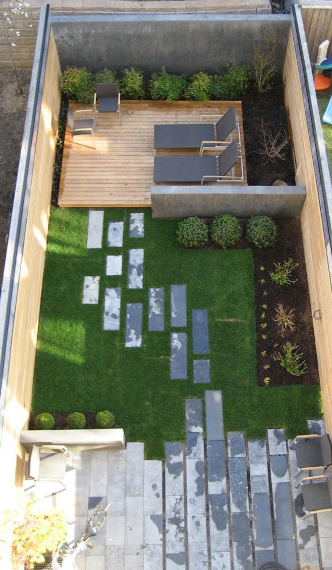 Kleine tuin inrichten slingerpad homedeal nl for Kleine achtertuin inrichten