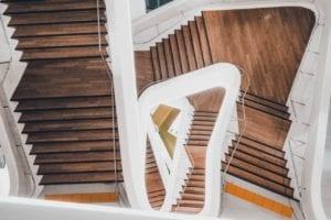 nieuwe houten trap