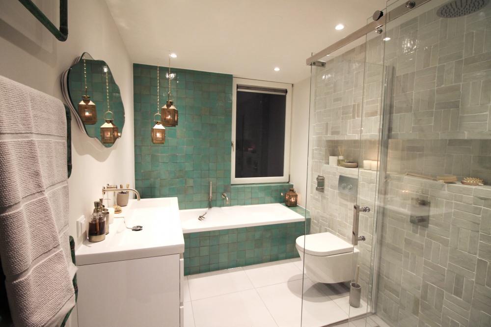 Zellige tegels in badkamer