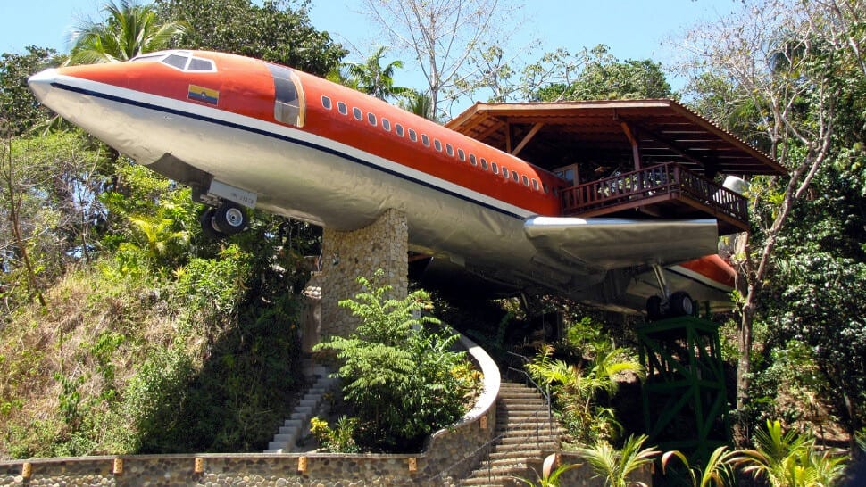 vliegtuig huis