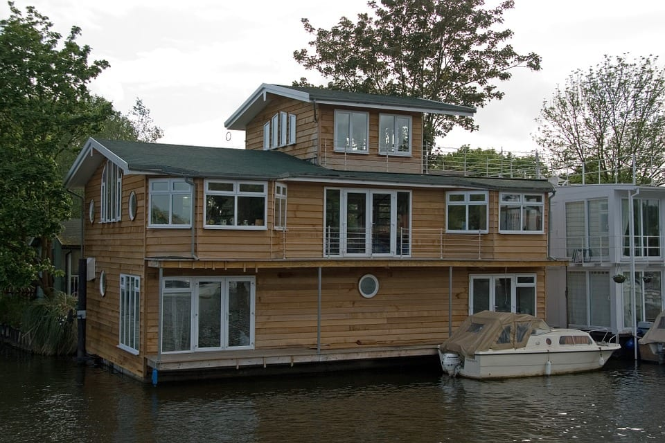 woonboot hout