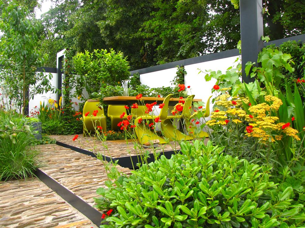 verdieping in tuin