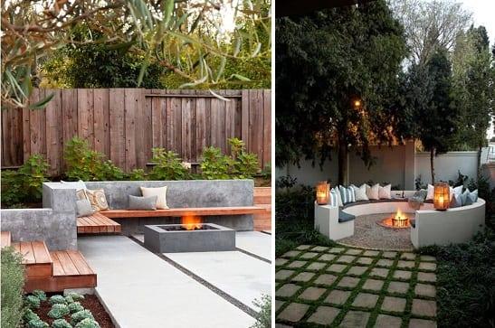 Betonnen lounge in de tuin