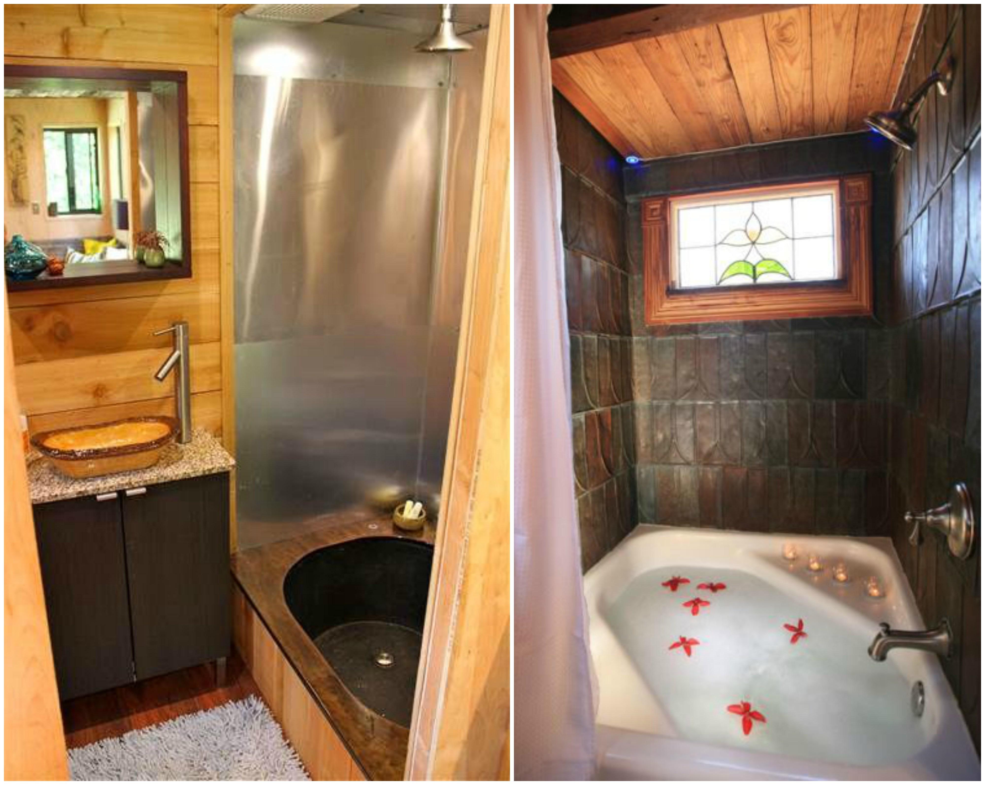 Wonen in een tiny house inspiratie op homedeal - Wat kleur aan een badkamer ...