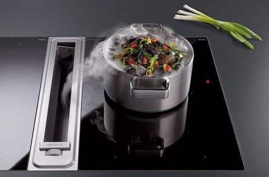 Keukentrends afzuiging in kookplaat