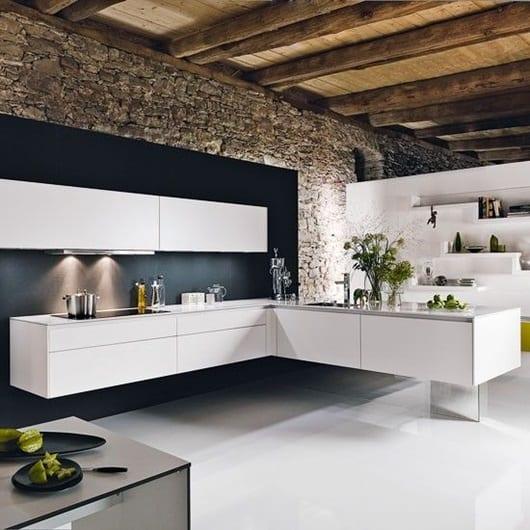 Keukentrends zwevende keukenkast modern