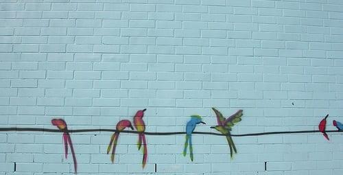graffiti op muur
