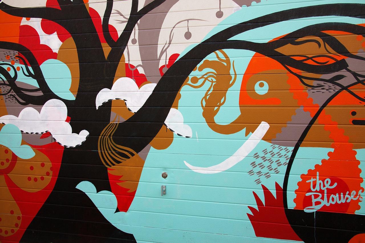 schilderij graffiti muur