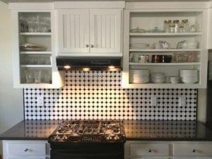 Keuken, Tegels, Keukentegels, Dambordpatroon