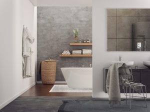 Stucwerk schilderen badkamer