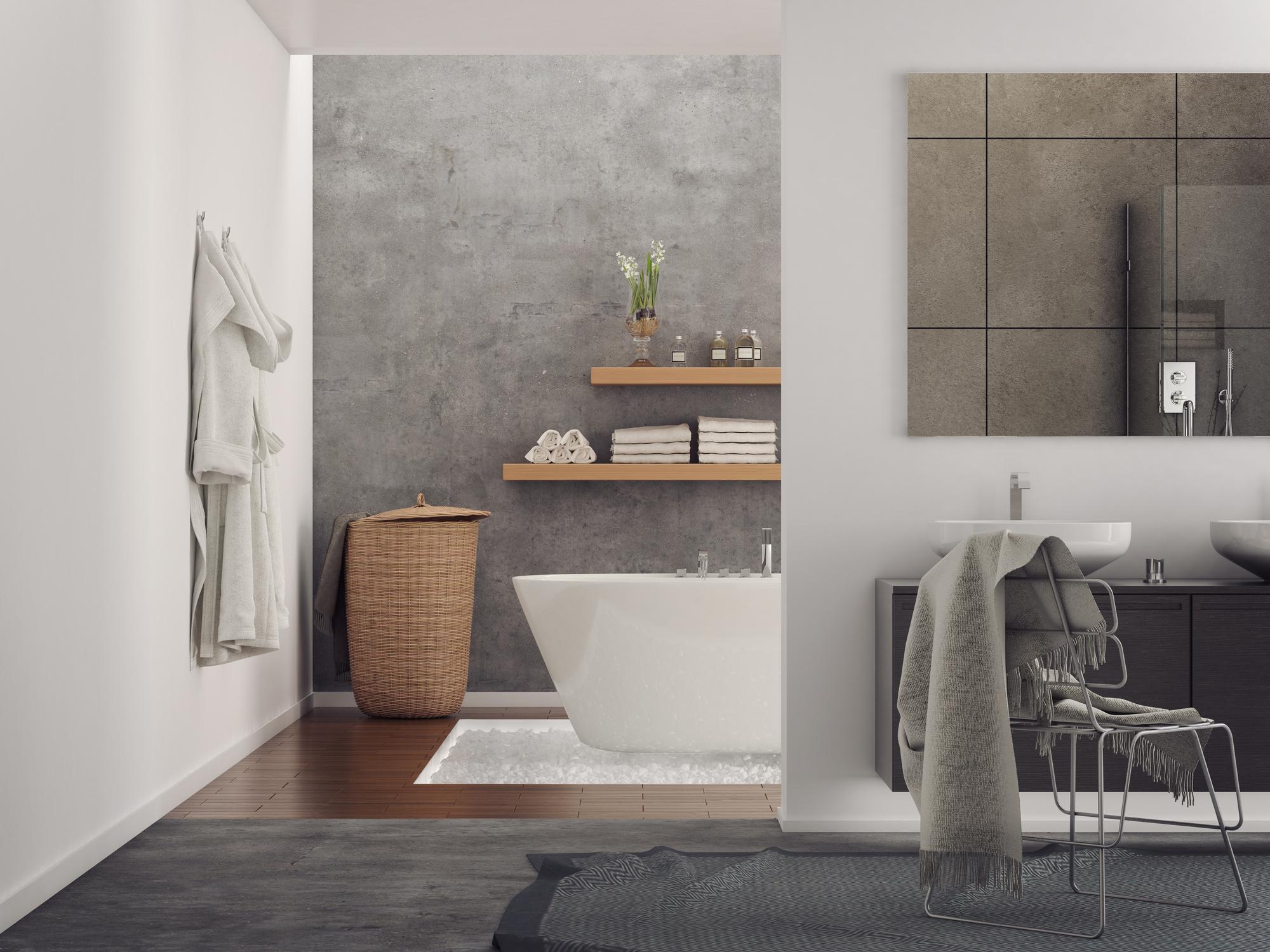 Stucwerk schilderen badkamer   HomeDeal NL