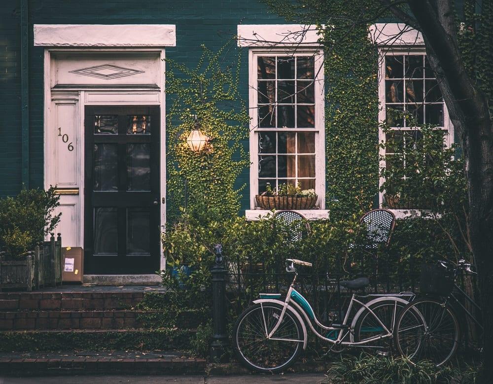 Groene kleur buitenschilderwerk
