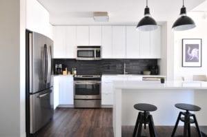Plafond witten keuken