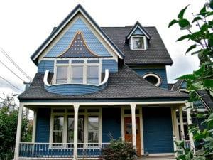 Blauw dakkapel